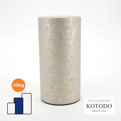 Japanese tea box made of washi paper, WASHI Collection, golden flowers
