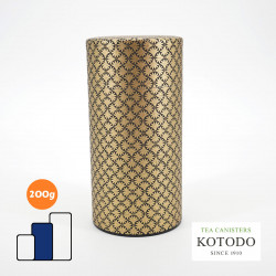 Japanese tea box made of washi paper, WASHI Collection, golden patterns
