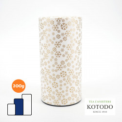 Japanese tea box made of washi paper, WASHI Collection, golden flakes
