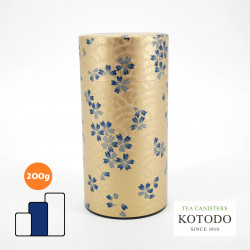 Japanese tea box made of washi paper, WASHI Collection, sakura flowers