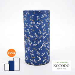 Japanese tea box made of washi paper, WASHI Collection, dragonflies