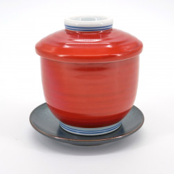 red Japanese chawan mushi cup 16MC5696632