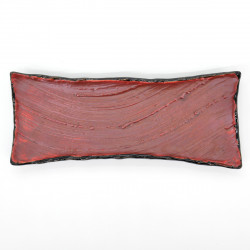 Long japanese rectangular sushi plate, SHUHAKE TNMOKU, red