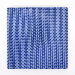 japanese blue waves square plate 19,7cm SEIGAIHA AO