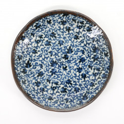japanese blue patterns plate Ø16,2cm KARAKUSA