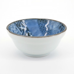 japanese white and blue little bowl Ø9,5cm NEJIRI SHÔZUI