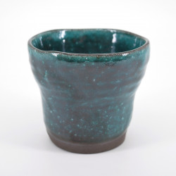 japanese blue turquois teacup in ceramic HISUIMARUCHI