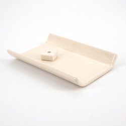 Japanese incense holder yukari white or brown
