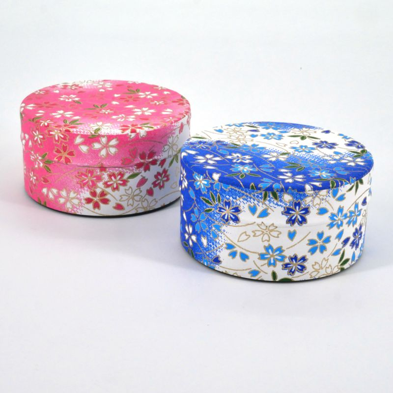 bo te th en papier washi plate 40g rose bleu au choix yuki. Black Bedroom Furniture Sets. Home Design Ideas