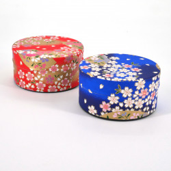 Japanese tea box washi paper flat 40g red blue choice SAKURA