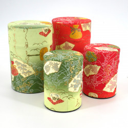 Japanese tea box washi paper 40g 100g green orange choice
