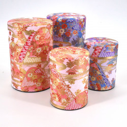 Japanese tea box washi paper 40g 100g pink purple choice YAMA