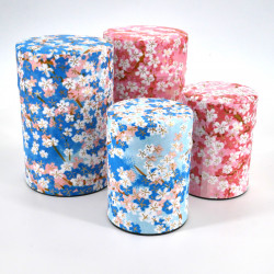 Japanese tea box washi paper 40g 100g blue pink choice UME