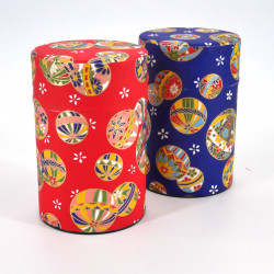 Japanese tea box washi paper 100g blue red choice MARU