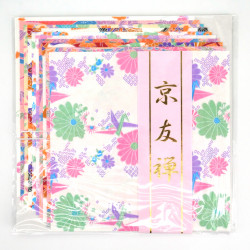 set of 10 sheets of Japanese paper, KYO CHIYOGAMI, TY015002