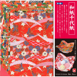 set of 8 sheets of Japanese paper, WAGAMI CHIYOGAMI, TY012003