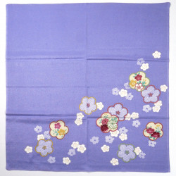 japanese purple rayon furoshiki 68x68cm plum flowers HIKITAUME