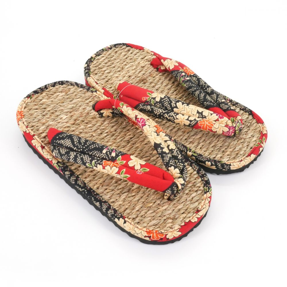 10121a31ab8 pair of Japanese sandals zori seagrass