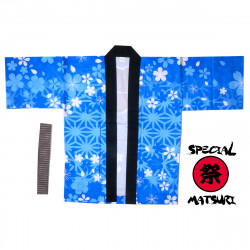 Japanese cotton coulour choice haori jacket for matsuri festival asanoha sakura