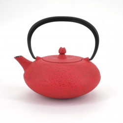 red cast iron teapot Wazuqu. SHIBO. 0.35lt