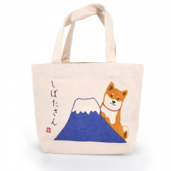 Japanese single tote bag cotton dog FUJISAN 20x30cm