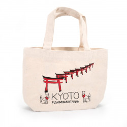 Japanese single tote bag cotton KYOTO 20x30cm