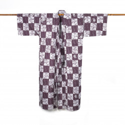 Japanese cotton prestige yukata for men NEMAKI purple