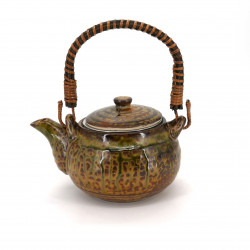 japanese brown ceramic teapot with handle IRABO