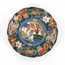 japanese hollow ceramic round plate, IMARI, colorful patterns