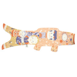 pale pink koi carp-shaped windsock KOINOBORI KOKESHI