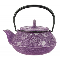 Japanese teapot cast iron, IWACHU MARI ASOBI 0,65lt, purple