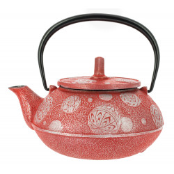 Japanese teapot cast iron, IWACHU MARI ASOBI 0,65lt, red