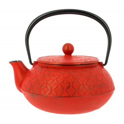 Japanese teapot cast iron, IWACHU SHIPOH 0,65lt, red