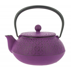 Japanese teapot cast iron, IWACHU SHIPOH 0,65lt, purple