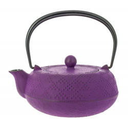 Japanese teapot cast iron, IWACHU KOSHI 0,55lt, purple