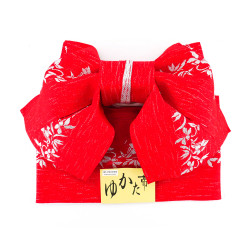 Japanese traditional knot belt in polyester, MUSUBI-OBI, pattern choice