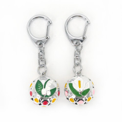 Japanese keyring bell, flower of your choice KIHORUDA