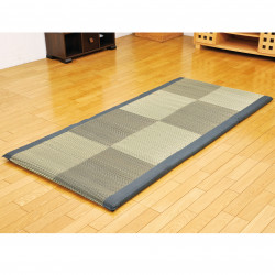 Traditional Japanese rice straw mattress - MATTORESU, black, 90x200cm