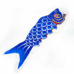 blue koi carp-shaped windsock KOINOBORI