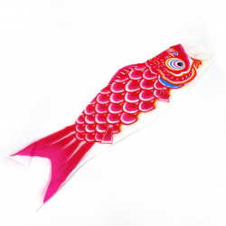 red koi carp-shaped windsock KOINOBORI