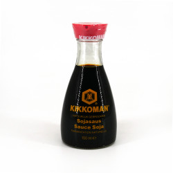 Soy sauce in a drip-proof carafe, KIKKOMAN DISPENSER