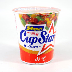 Cup of instant noodles Miso flavor, SAPPORO ICHIBAN CUP STAR MISO