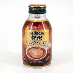 Chocolat au lait en canette - Georgia Zeitaku Milk Cocoa Hot Can