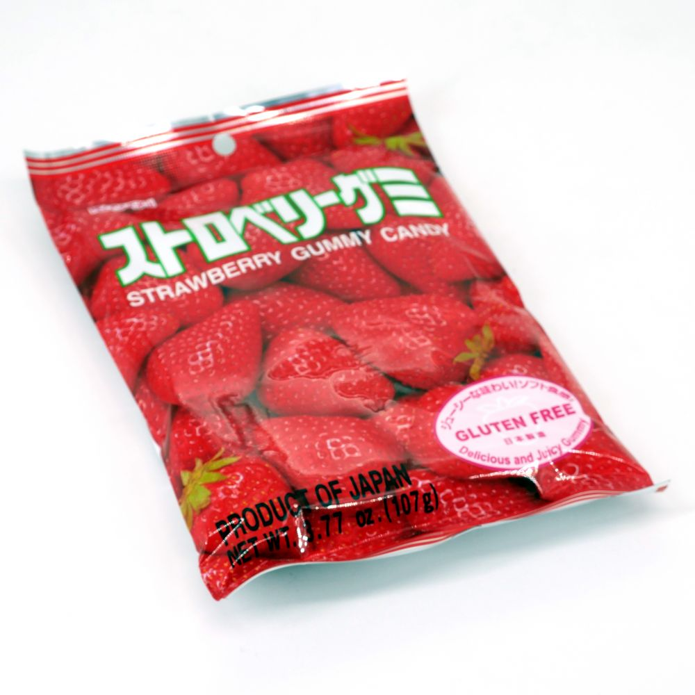 Strawberry jelly candies, KASUGAI GUMMY