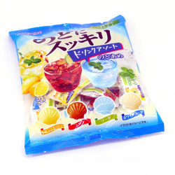 Hard soda candies, assortment of 4 flavours - NODO NI SUKKIRI