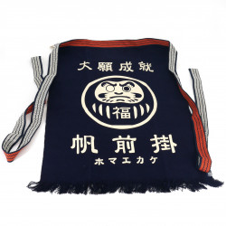Traditional Japanese cotton apron Daruma, MAEKAKE DARUMA