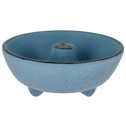 Blue cast-iron incense burner, IWACHU, fountain