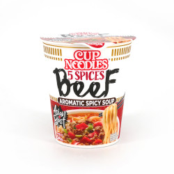 Cup of Instant Ramen with beef flavor, NISSIN CUP NOODLE BEEF