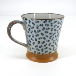 Blue Japanese mug HANA