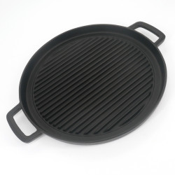 Japanese cast iron dish for grilling, YAKINIKU NABEMONO